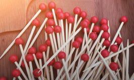 Foodpick met rode handvatbal Royalty-vrije Stock Fotografie