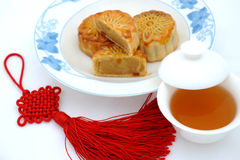 Foods for Chinese mid-autumn festival Royalty Free Stock Photography