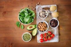Foods containing potassium Stock Images