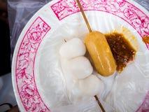 Foods för mellanmål för `-Lok Lok ` i Penang, Malaysia royaltyfria bilder