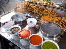 Foods för mellanmål för `-Lok Lok ` i Penang, Malaysia royaltyfria foton