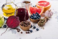 Foods för sund lever arkivfoto