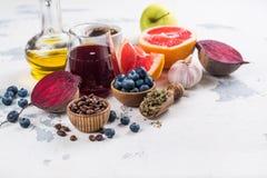 Foods för sund lever royaltyfri bild