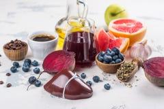 Foods för sund lever royaltyfri fotografi