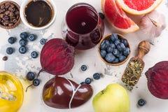 Foods för sund lever royaltyfria bilder