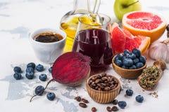 Foods för sund lever arkivbilder
