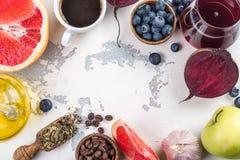 Foods för sund lever arkivbild