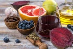 Foods för sund lever royaltyfria foton