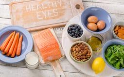 Foods för sunda ögon Arkivbild