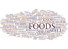 Foods That Fight Disease Word Cloud Concept. Foods That Fight Disease Text Background Word Cloud Concept Royalty Free Stock Images