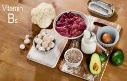 Foods högt i vitaminet B5 fotografering för bildbyråer