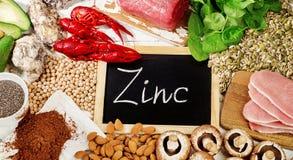 Foods högt i zink royaltyfri fotografi
