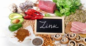 Foods högt i Zink royaltyfria foton