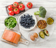 Foods for healthy brain. Royalty Free Stock Image