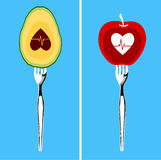Foods for healthy heart Royalty Free Stock Photo