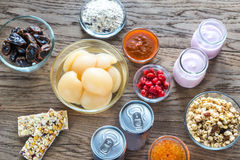 Foods with hidden sugar Stock Images