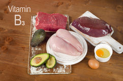 Foods High In Niacin (Vitamin B3) Stock Photos