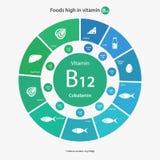 Foods high in vitamin B12 Stock Photo