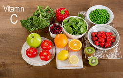 Foods High in Vitamin C. Healthy eating. Stock Image