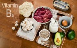 Foods Highest In Vitamin B5 (Pantothenic Acid) Royalty Free Stock Image