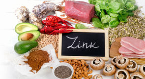 Foods Highest in Zink. Royalty Free Stock Photos