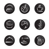 Foods icon set Royalty Free Stock Photo
