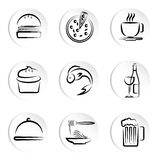 Foods icons Royalty Free Stock Photos