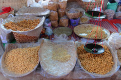 Foods at the market store. In Inle Lake village Stock Photos