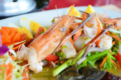 Foods Mix. Shrimp Royalty Free Stock Image