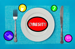 Foods provoking obesity Stock Image