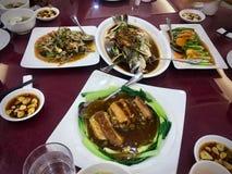 Foods Restaurant Chinese Vegetables Portrait. Food Portrait Photo of Chinese Restaurant at stock photo