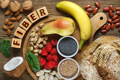 Foods rich in fiber Stock Photography