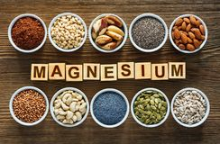 Foods rich in magnesium stock photography
