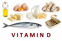 Foods rich in natural vitamin D Royalty Free Stock Image