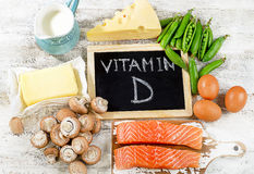 Foods rich in vitamin D. Royalty Free Stock Photos