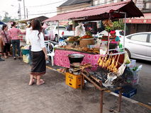 Foods and snacks, daily life on a market near Meko Stock Images