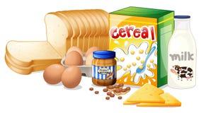 Foods som är ideala för frukost Arkivfoton