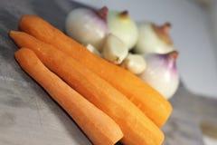 Foods som är rika i vitamin Royaltyfria Bilder