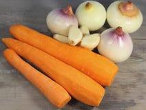 Foods som är rika i vitamin Arkivfoton