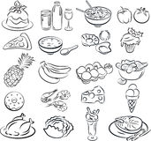 Foods royalty free illustration