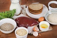 Foods Wysocy w Thiamin Fotografia Royalty Free