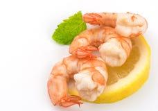 FoodShrimps. Prawns isolated on a White Background .Seafood. FoodShrimps. Prawns isolated on a White Background. Seafood Stock Photo