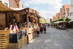 Foodstalls en el festival histórico Foto de archivo