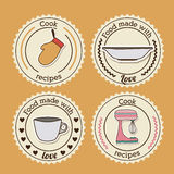 Foodstuff Design. Over yellow background, vector illustration Stock Images