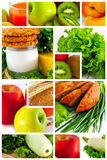 Foodstuff. Fruit and vegetables. Collage Stock Images
