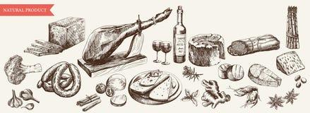 foodstuffs illustration libre de droits