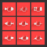 Foodstuffs. Flat icons set №1. Icons set. Several general categories foodstuffs Stock Photo