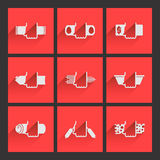 Foodstuffs. Flat icons set 2 Royalty Free Stock Photo