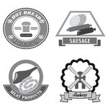 Foodstuffs icons Royalty Free Stock Photography