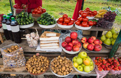 Foodstuffs at the market Royalty Free Stock Photo